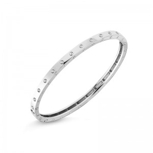 Roberto Coin  White Gold Symphony Poi Moi Bangle Bracelet