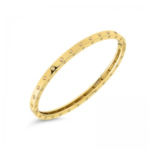 Roberto Coin  Yellow Gold Symphony Pois Moi Bangle