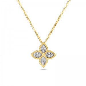 Roberto Coin Diamond Princess Flower Necklace