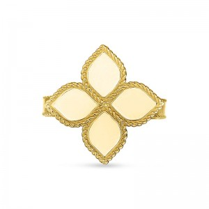 Roberto Coin Yellow Gold Princess Flower Ring