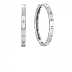 Roberto Coin  White Gold 30Mm Symphony Pois Moi Hoop Earring