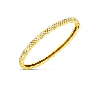 Roberto Coin Yellow Gold Symphony Diamond Bangle