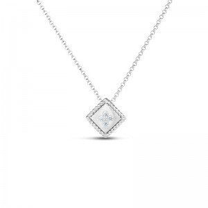 Roberto Coin  White Gold Diamond Palazzo Ducale Single Pendant
