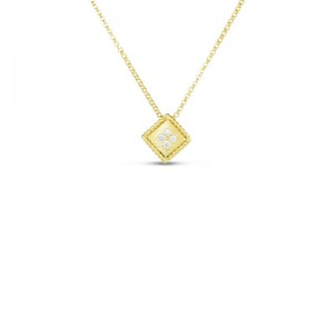 Roberto Coin  Yellow Gold Diamond Palazzo Ducale Single Pendant