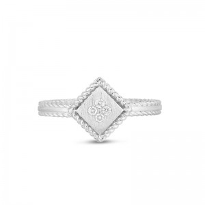 Roberto Coin  White Gold Diamond Palazzo Ducale Ring