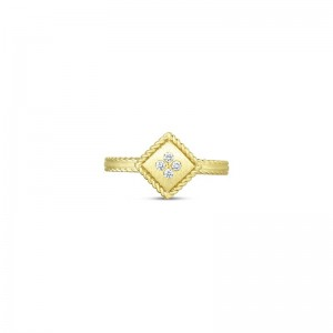 Roberto Coin  Yellow Gold Diamond Palazzo Ducale Ring