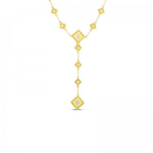 Roberto Coin  Yellow Gold Diamond Palazzo Ducale  'Y' Necklace
