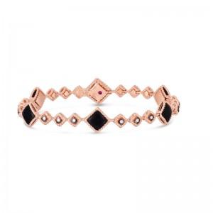 Roberto Coin 18K Palazzo Ducale Bracelet W. Black Jade & Diamond