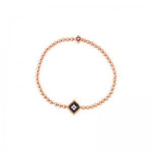 Roberto Coin 18K Rose Gold Diamond Palazzo Ducale Bracelet Petite