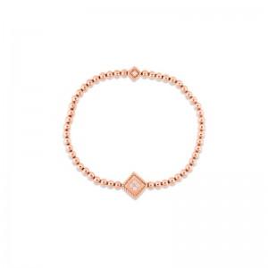 Roberto Coin 18K Rose Gold Diamond Ducale Bracelet Petite