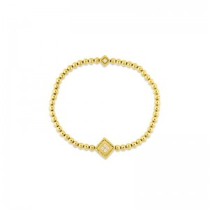 Roberto Coin  Yellow Gold Diamond Palazzo Ducale Bracelet Petite