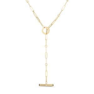 Roberto Coin 18K Gold Oro Classic 0.09cttw Diamond And Ruby Necklace