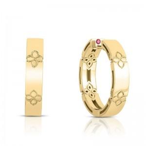 Roberto Coin 18K  Gold Love In Verona Hoop Earrings
