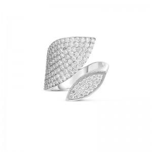 Roberto Coin 18K Gold & Diamond Petals Wrap Ring