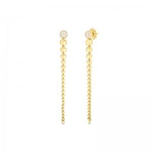Roberto Coin 18K Yellow Gold Diamond Convertible Earrings