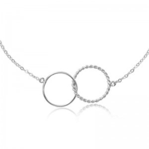 Pd Collection Ss Double Twist Interlocking Link Necklace