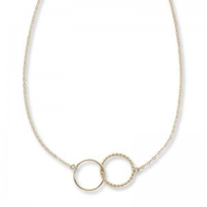 Pd Collection Yg Twist Double Necklace Interlock 18