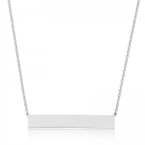 Pd Collection Ss Engravable Bar Necklace 16-18