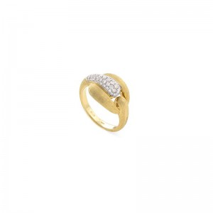 Marco Bicego 18K Yellow Gold Lucia Ring With .42Ctw, Size 7