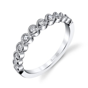 Sylvie .20Ctw 14K Wg Diamond Stackable Band