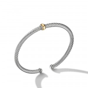 Cable Classics Center Station Bracelet with 18K Yellow Gold