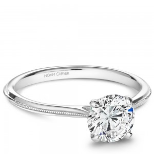 NC Sample 14K Wg Simple Solitaire Setting To Fit A 1Ct Rd