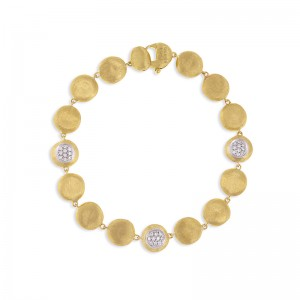 Marco Bicego 18K Yellow Gold Jaipur Collection Bracelet With Diamonds  .23Ctw 7