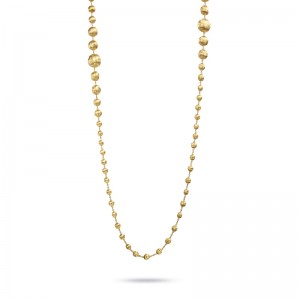 Marco Bicego 18K Yg Africa Graduated Double Wave Necklace 36