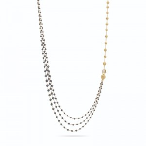 Marco Bicego 18K Yellow Gold Africa Collection  Necklace With Black Diamonds