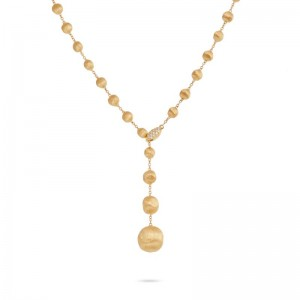 Marco Bicego 18K Yellow Gold Africa Collection .10Ctw Lariat Necklace