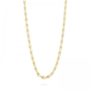 Marco Bicego 18K Yellow Gold Lucia Collection  Necklace With Diamonds .39Ctw