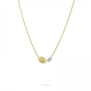 Marco Bicego 18K Yellow Gold Siviglia Collection Gold Pendant With .15Ctw Diamonds