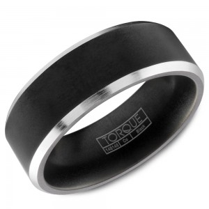 A black cobalt Torque band with white cobalt edges.