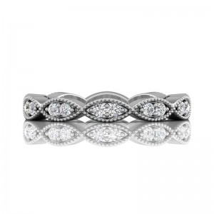 FlyerFit® 14K White Gold Stacker Wedding Band