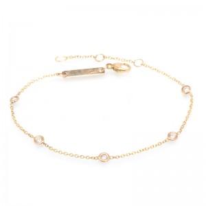 Zoe Chicco 5 Floating Diamonds Bracelet