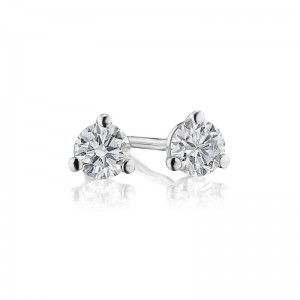 1/4TW Diamond Martini Stud Earrings