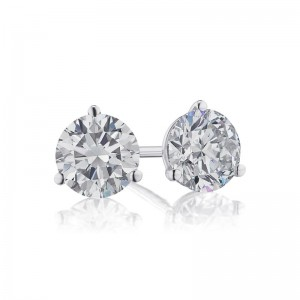 1 1/4 TW Diamond Martini Stud Earrings