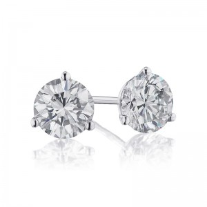 1 1/2 TW Diamond Martini Stud Earrings