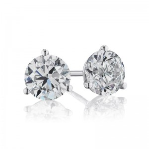 1 3/4TW Diamond Martini Stud Earrings