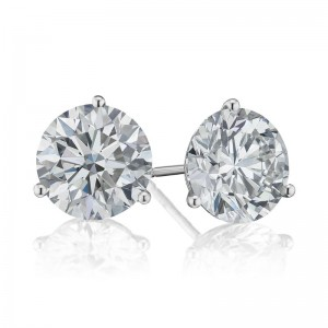 2 1/2TW Diamond Martini Stud Earrings