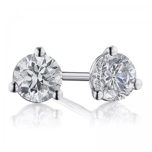 1/2TW Diamond Martini Stud Earrings