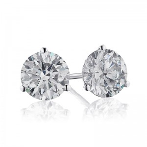 2CTW Diamond Martini Stud Earrings