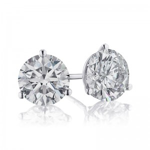 3CTW Diamond Martini Stud Earrings