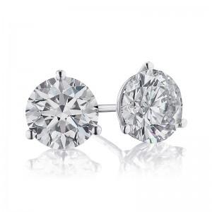 3CTW Diamond Martini Stud Earrings