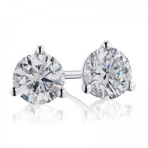 3/4TW Diamond Martini Stud Earrings
