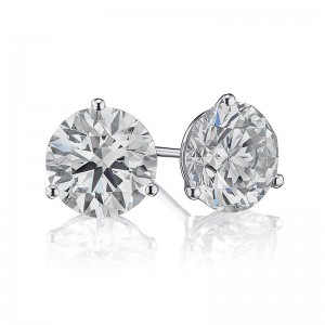 4CTW Diamond Martini Stud Earrings