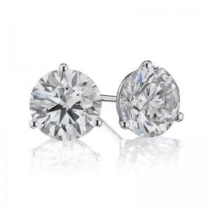 4CTW Diamond Martini Stud Earrings