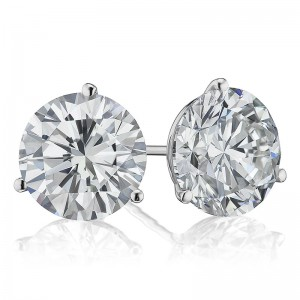 6CTW Diamond Martini Stud Earrings
