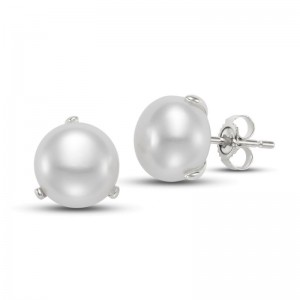 Mastoloni 9.5-10MM Button Freshwater Pearl Earrings