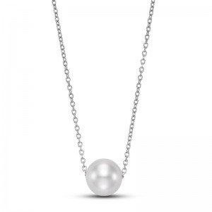 Mastoloni Floating White Pearl Necklace